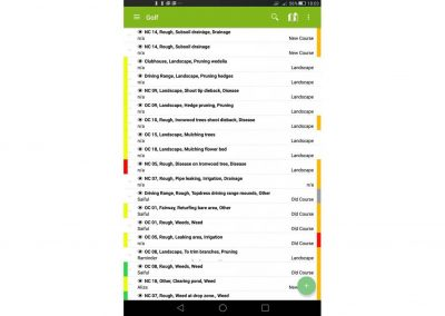 mapgage-fieldapp-screenshot-golf-issue-record-list-overview